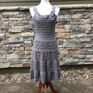 Steel grey knit dress NWT for any occasion